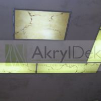 Marble soffit panels with LED Lights