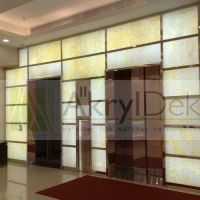 Backlit marble wall coverings