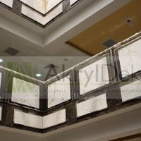 Marble staircase railing panels