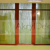 Transparent partition wall