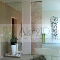 Design partition wall with leaves