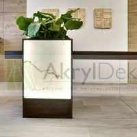 Marble backlit countertop