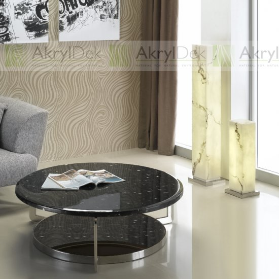 Decorative resin panels in modern interior