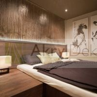Translucent resin partition wall with bamboo