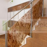 Natural design of staircase railing