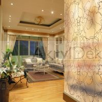 Transparent interior partition with herbs