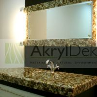Stone Wash-basin and mirror frame