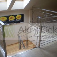 Staircase railing panels